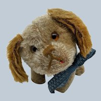 Super Cute Hard to Find Schuco Yes No Dog Circa 1920's in Loved Condition