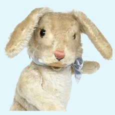 """Handsome 12"""" Vintage Steiff Niki Bunny Rabbit Fully Jointed No ID"""
