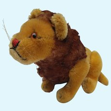 Lovely Vintage 1950's Fully Jointed Steiff Mohair Lion No ID