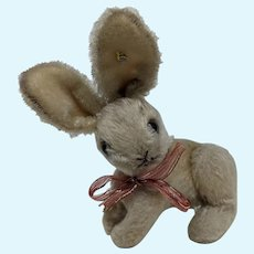 Well Loved Vintage Steiff Bunny Rabbit with Jointed Hind Legs