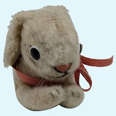 Well Loved Vintage Steiff Lying Bunny Rabbit No ID