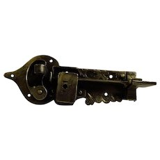 18th Century German Wrought Iron Door Lock