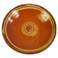 19th Century German Alsatian Glazed Terra Cotta Plate