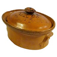 Antique 19th Century Alsatian German Tureen