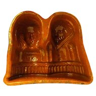 19th Century Hansel und Gretel Terracotta Glazed Mold