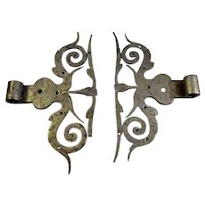 Antique German Wrought Iron Hinges