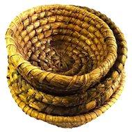 Set of 19th Century Straw Bread Baskets