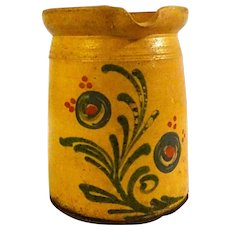 19th Century Yellow Terra Cotta Pitcher Jug