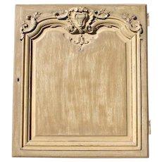 18th Century French Wood Door Panel