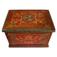 Vintage Hand Painted Treasure Wood Box