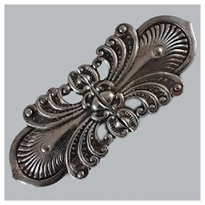 Victorian Sterling Buckle Signed 1870's