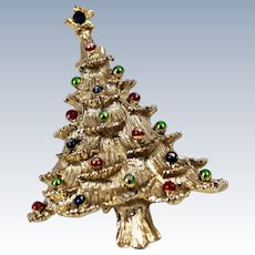 Gerry's Christmas Tree Brooch / Pin c1980s