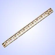 Edwardian 14k Rose Gold Floral Bar Pin / Brooch c1910