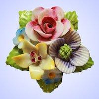 English Bone China Floral Brooch Pin c1950s