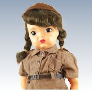 Vintage Terri Lee Hard Plastic Brownie Girl Scout Doll