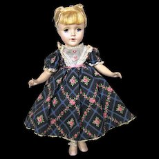 "Vintage 1950's Madame Alexander Tagged Blue Floral ""Beth"" Dress and American Character Doll - Red Tag Sale Item"