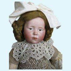 K*R Kammer Reinhardt 101 Mold Marie Brown Eyed Antique German Doll