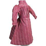 Wonderful Antique Turkey Red Cotton Doll Dress