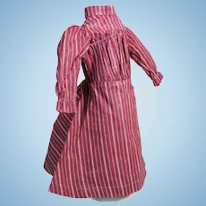 Wonderful Antique Turkey Red Cotton Doll Dress