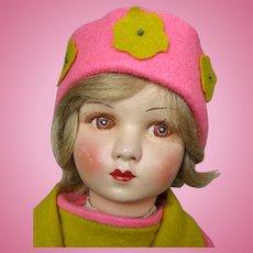 French Cloth and Felt Raynal Doll