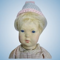 US Zone Period Steiff Felt Cloth Doll