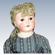 Antque Queen Louise Armand Marseille Doll with Original Blonde Curly Mohair Wig