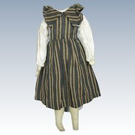 Antique Doll Dress and Original Leather Body