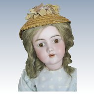 Antique Heinrich Handwerck 99 German Bisque Head Doll with Original Wig