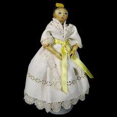 Sherman Smith Vintage Wood Tuck Comb Peg Doll