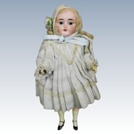 "All Original Antique 9"" Bisque Head German Doll"