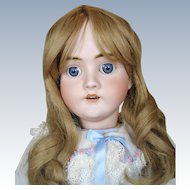 "Antique 27"" German Bisque Head Walkure Doll"