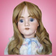 """Antique 27"""" German Bisque Head Walkure Doll"""