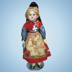 Factory Original Bisque Head German Fully Jointed Armand Marseille Doll