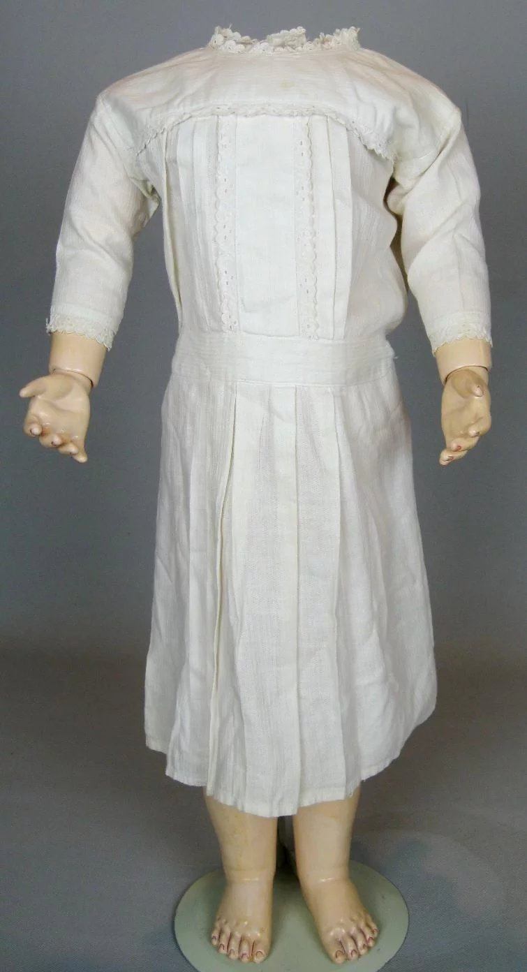 early 1900s antique cotton doll dress   victoria u0026 39 s doll