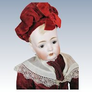 "Antique 20"" Bruno Schmidt ""Tommy Tucker"" Bisque Head German Character Doll"