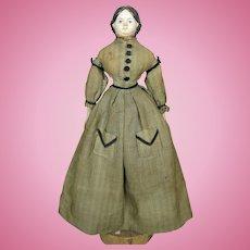 "13"" Papiermache Milliner Model German Antique Doll All Original"