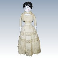 """Antique German 22"""" China Head Doll ~ Great Underclothing"""