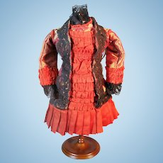 Wonderful Artisan Bebe Doll Dress for your Antique French Doll