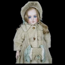 Gorgeous Coat, Bonnet and Muff for your Antique French Bebe Artisan Made