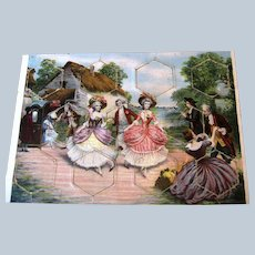 6 Antique French Puzzles ~ Children, Dolls, Ladies, Dogs ~ Child's Question Answer Match Game