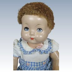 """Adorable 16"""" 1942 Effanbee Sweetie Pie All Composition Doll with Box"""