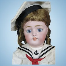 """Antique German 18"""" Kestner Bisque Head Mold 168 Doll ~ Sweet Sailor Girl!"""