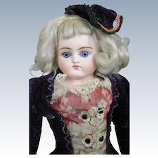 """Antique 17"""" Closed Mouth German Fashion Doll"""