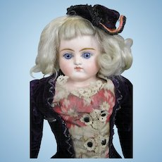 "Antique 17"" Closed Mouth German Fashion Doll"
