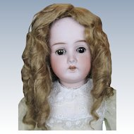 "Antique 22"" German Bisque Head Doll With Composition Ball Jointed Body"