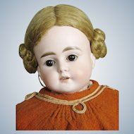 "Antique 19"" German ABG Turned Bisque Head Doll"