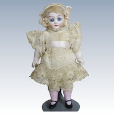 """Antique 5"""" All Bisque Doll House Doll ~ All Original and Adorable!"""