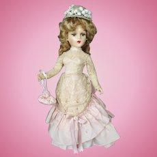 21 inch Composition 1938 Madame Alexander Portrait Godey Lady Doll