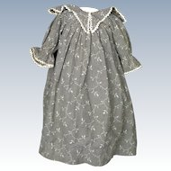 Antique Primitive Printed Cotton Dress for China Head or Papier-Mache Doll