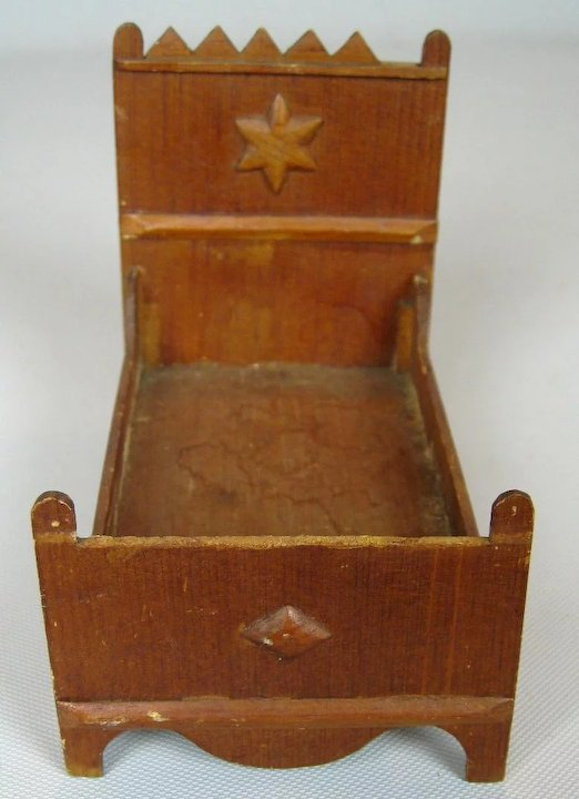 Antique German Doll House Furniture Lot - Antique German Doll House Furniture Lot : Victoria's Doll House